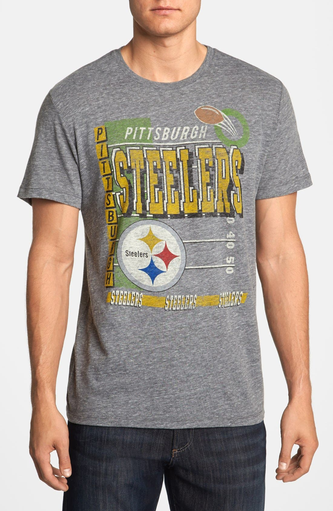 Alternate Image 1 Selected - Junk Food 'Touchdown - Pittsburgh Steelers' T-Shirt