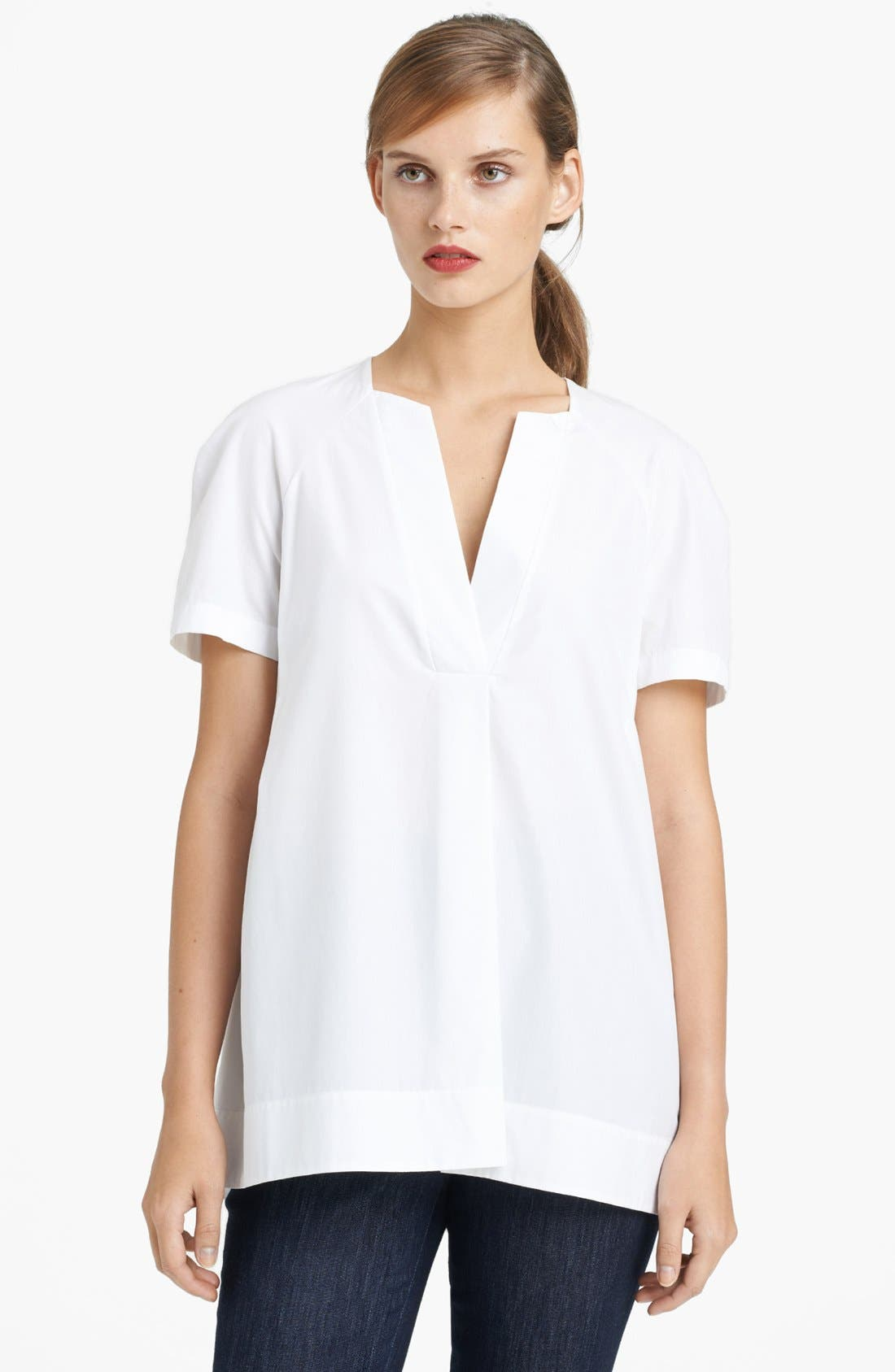 Alternate Image 1 Selected - Lida Baday Short Sleeve Woven Tunic