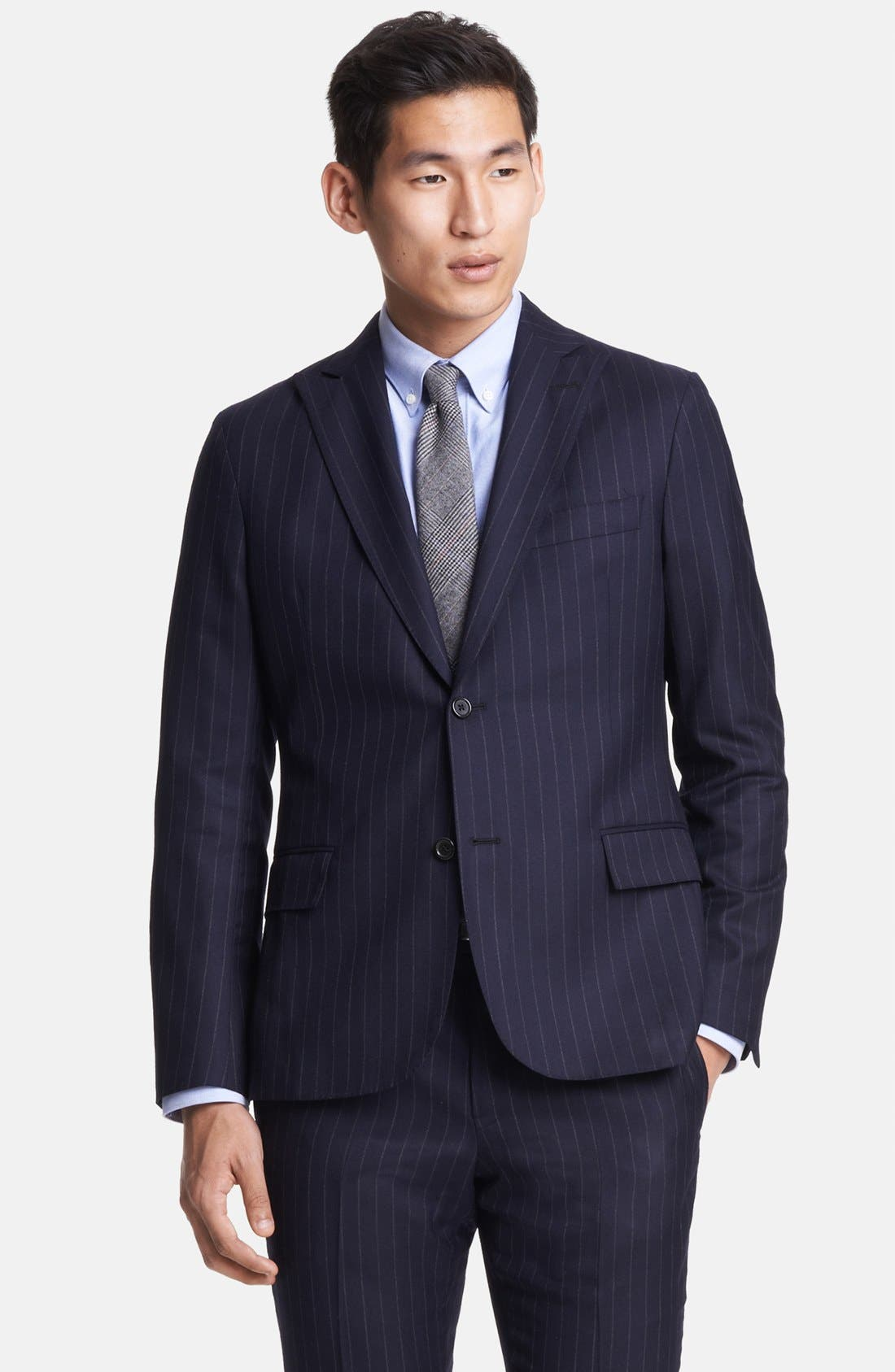 Alternate Image 4  - Todd Snyder Navy Pinstripe Wool Suit