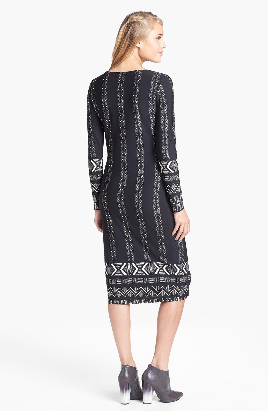 Alternate Image 2  - Minty Print Midi Dress (Juniors)
