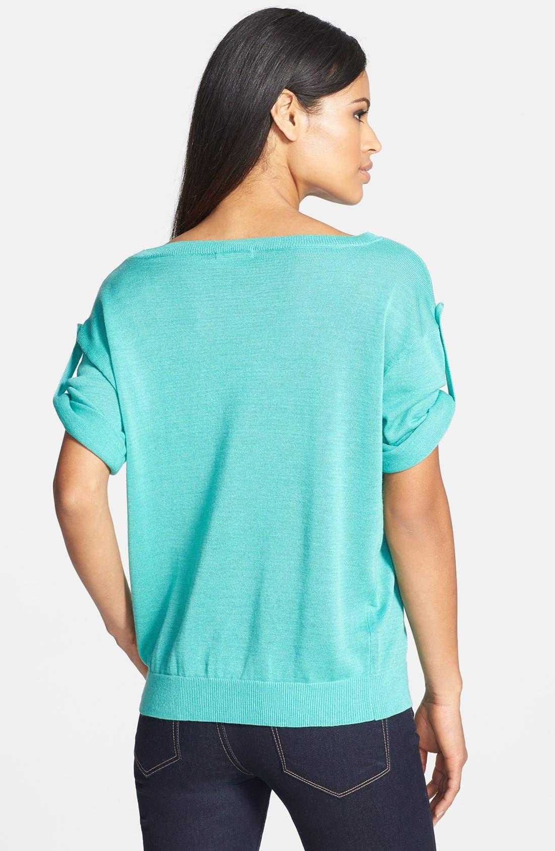 Alternate Image 2  - Adrianna Papell Roll Tab Sleeve Pullover