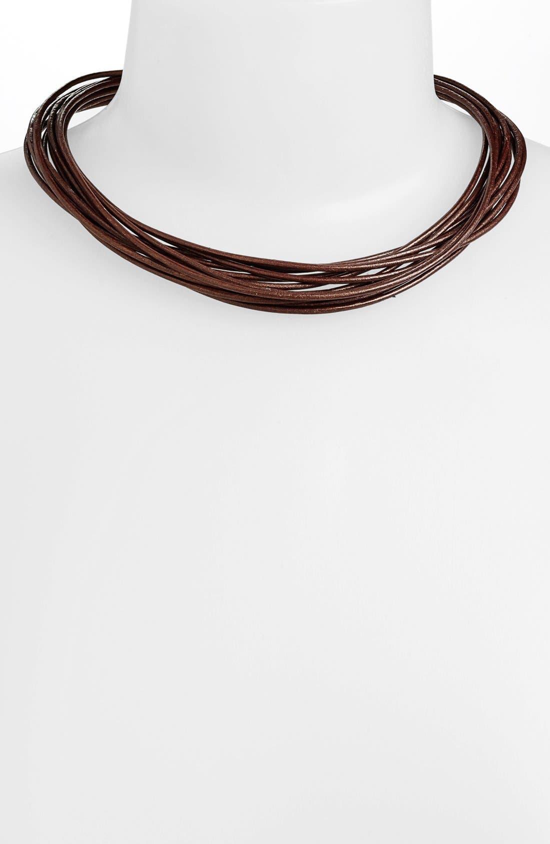 Alternate Image 1 Selected - Simon Sebbag Multistrand Leather Necklace