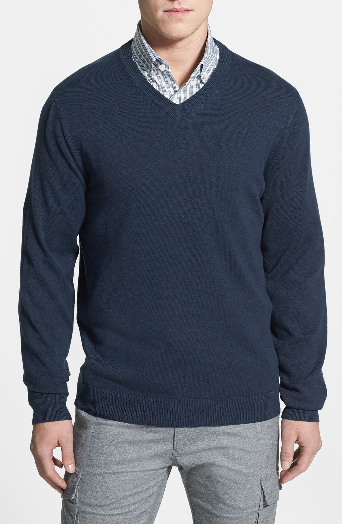 Alternate Image 1 Selected - Nordstrom V-Neck Cotton Sweater