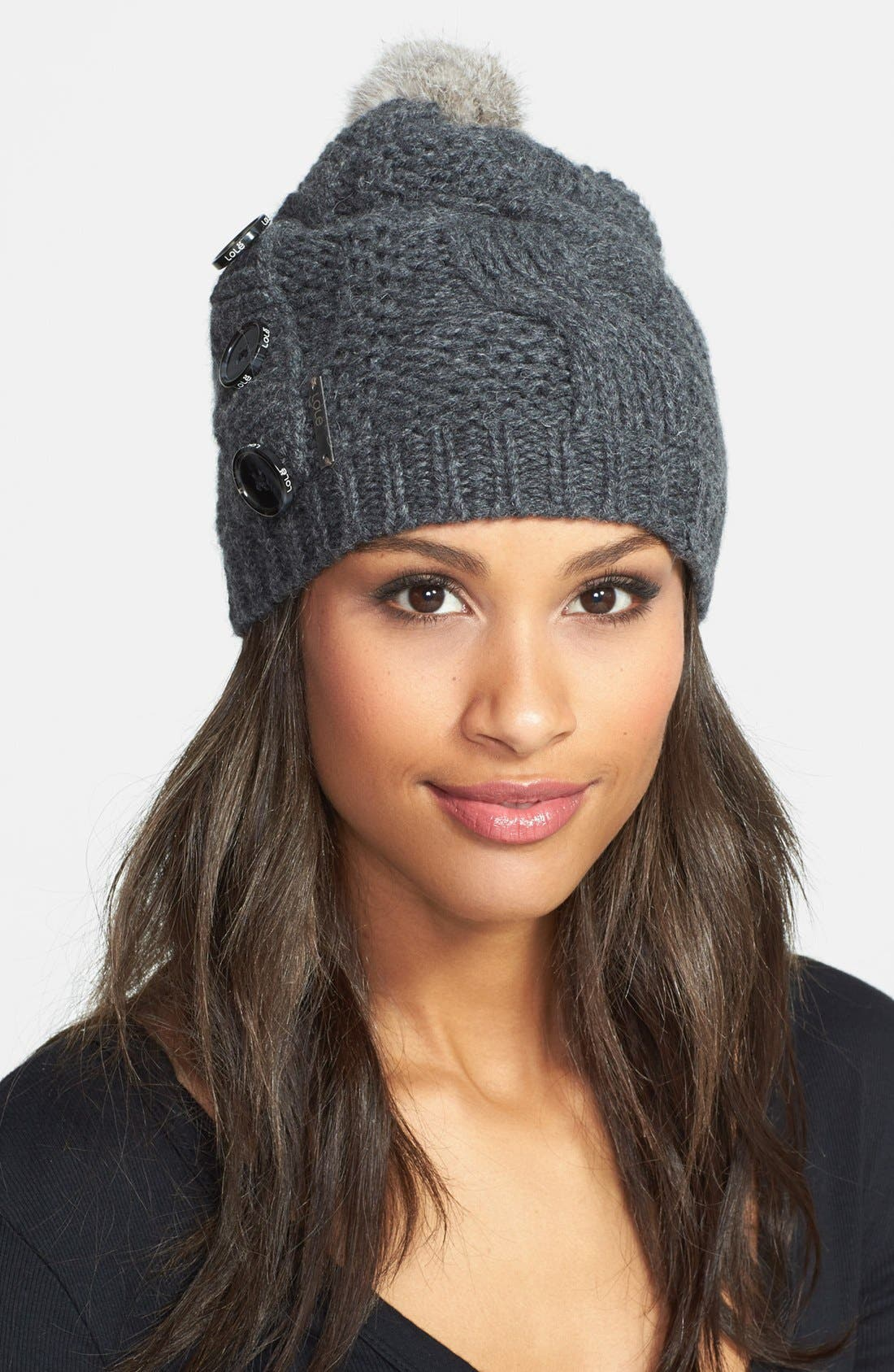 Alternate Image 1 Selected - Lole Cable Knit Wool Beanie