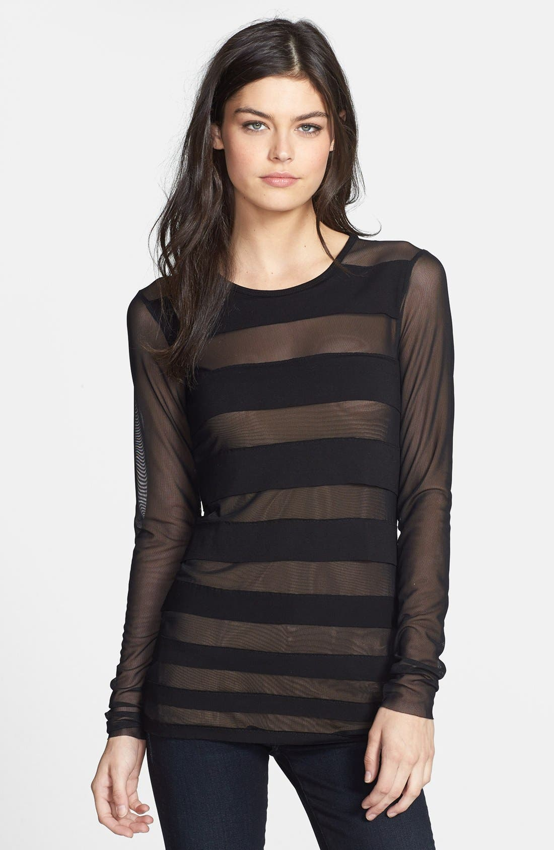 Alternate Image 1 Selected - Bailey 44 'Saturn' Mesh Stripe Top