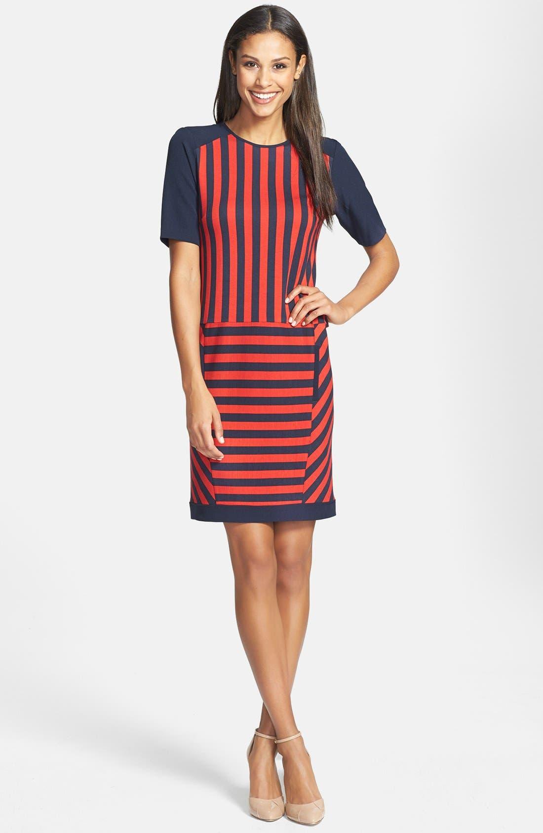 Alternate Image 2  - GRID PRINT SWEATER DRESS
