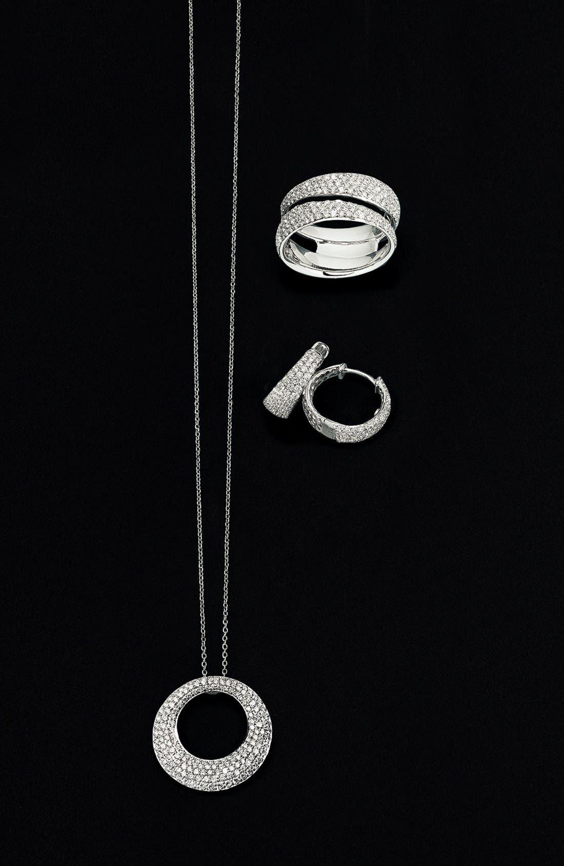 Alternate Image 3  - Roberto Coin 'Scalare' Diamond Hoop Earrings