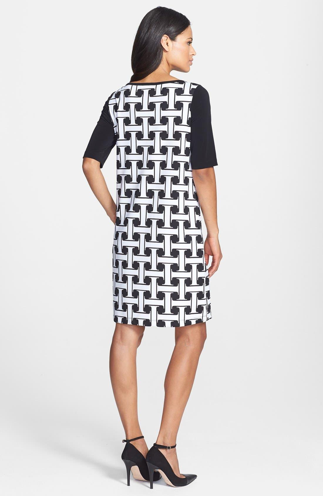 Alternate Image 3  - Isaac Mizrahi New York Print Stretch Jersey Shift Dress