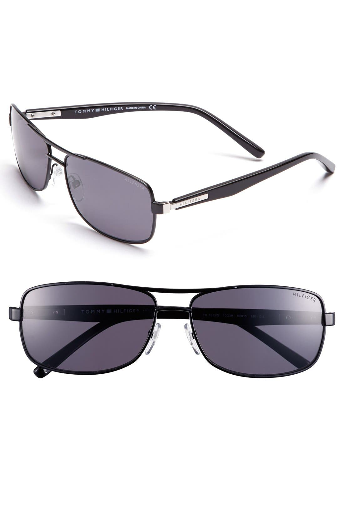Main Image - Tommy Hilfiger 60mm Polarized Navigator Sunglasses