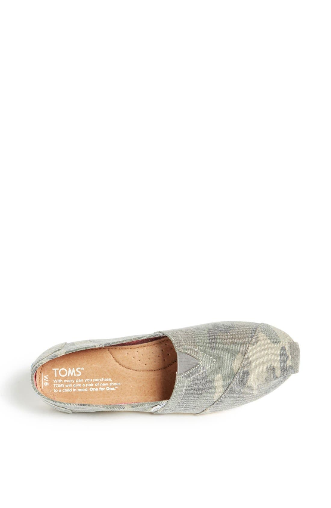 Alternate Image 3  - TOMS 'Classic - Camo' Canvas Slip-On (Women)