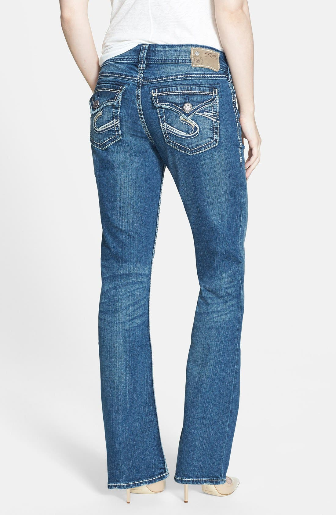 Alternate Image 2  - Silver Jeans Co. 'Suki' Stretch Bootcut Jeans (Indigo)