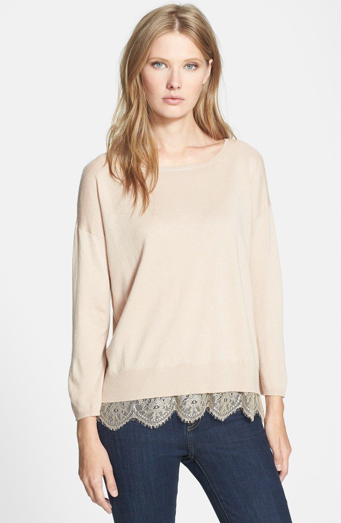 Main Image - Joie 'Hilano' Lace Trim Sweater