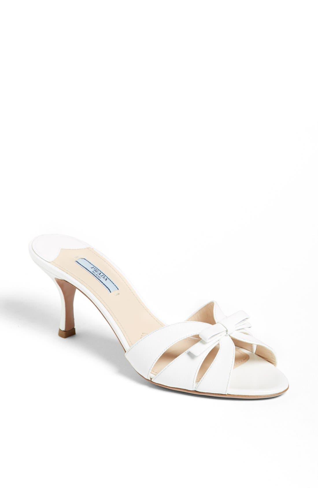 Alternate Image 1 Selected - Prada Bow Slide Sandal