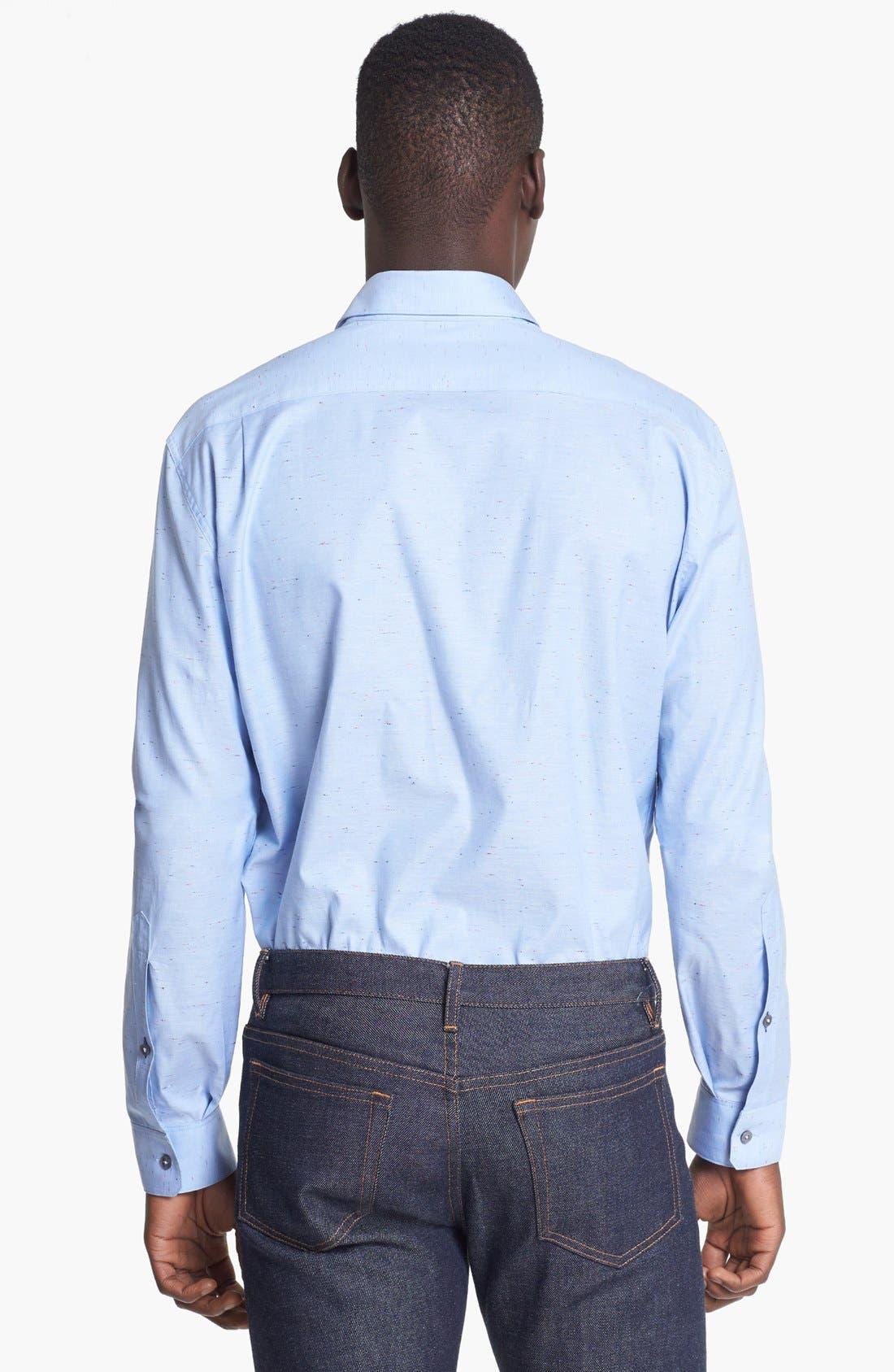 Alternate Image 2  - Paul Smith London Slim Fit Nep Oxford Dress Shirt