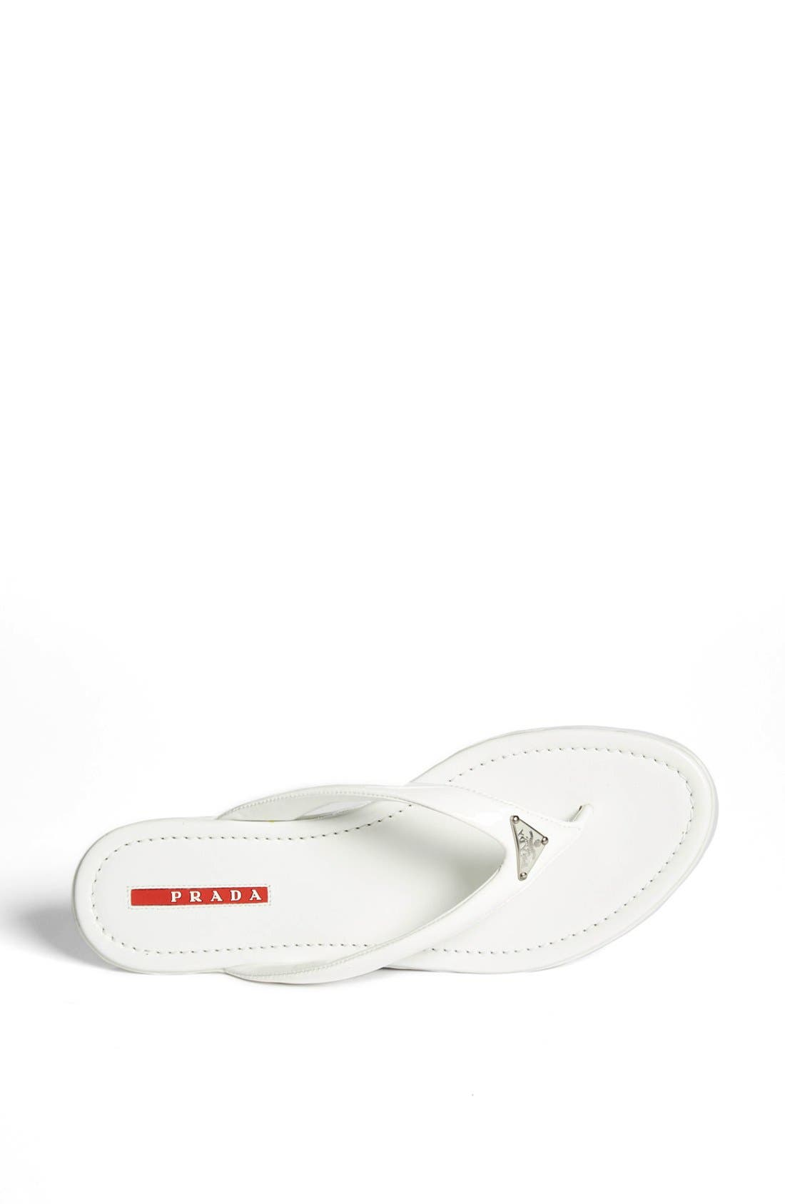 Alternate Image 4  - Prada Logo Thong Sandal