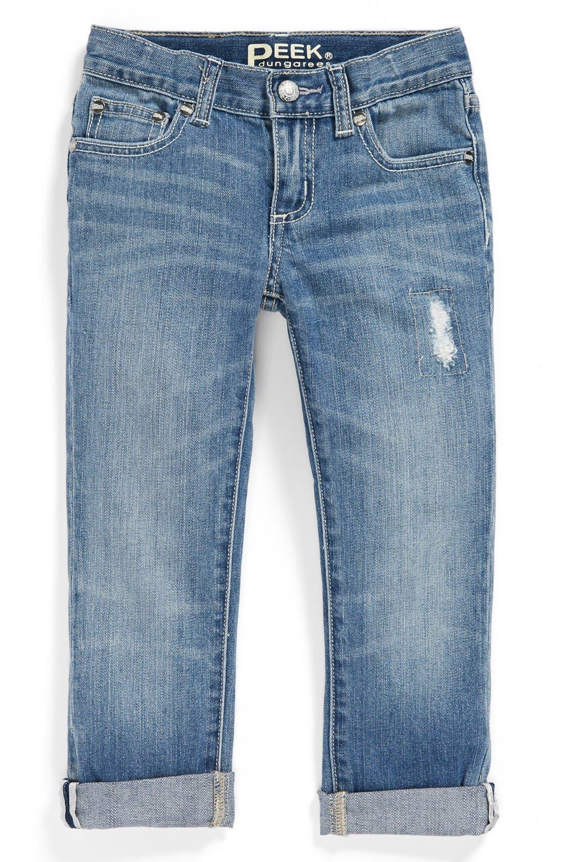 Alternate Image 2  - Peek 'Greta' Stretch Cotton Jeans (Toddler Girls, Little Girls & Big Girls)