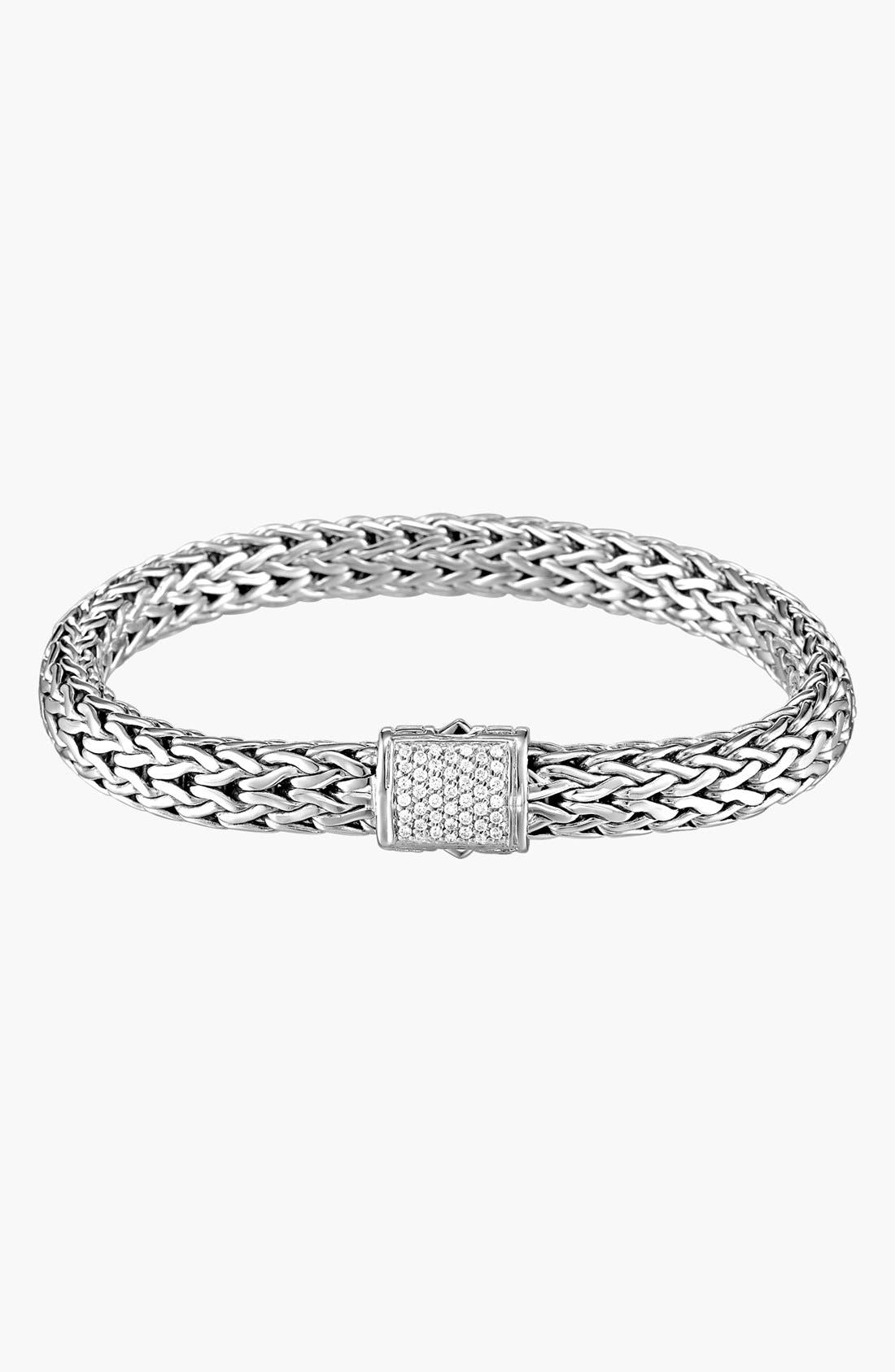 Alternate Image 1 Selected - John Hardy 'Classic Chain' Medium Pavé Diamond Bracelet