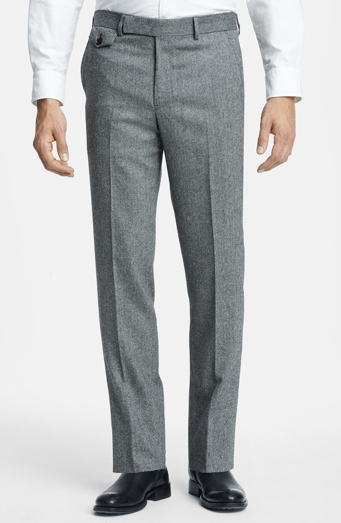Alternate Image 5  - Billy Reid 'Ellerman' Herringbone Wool Blend Suit