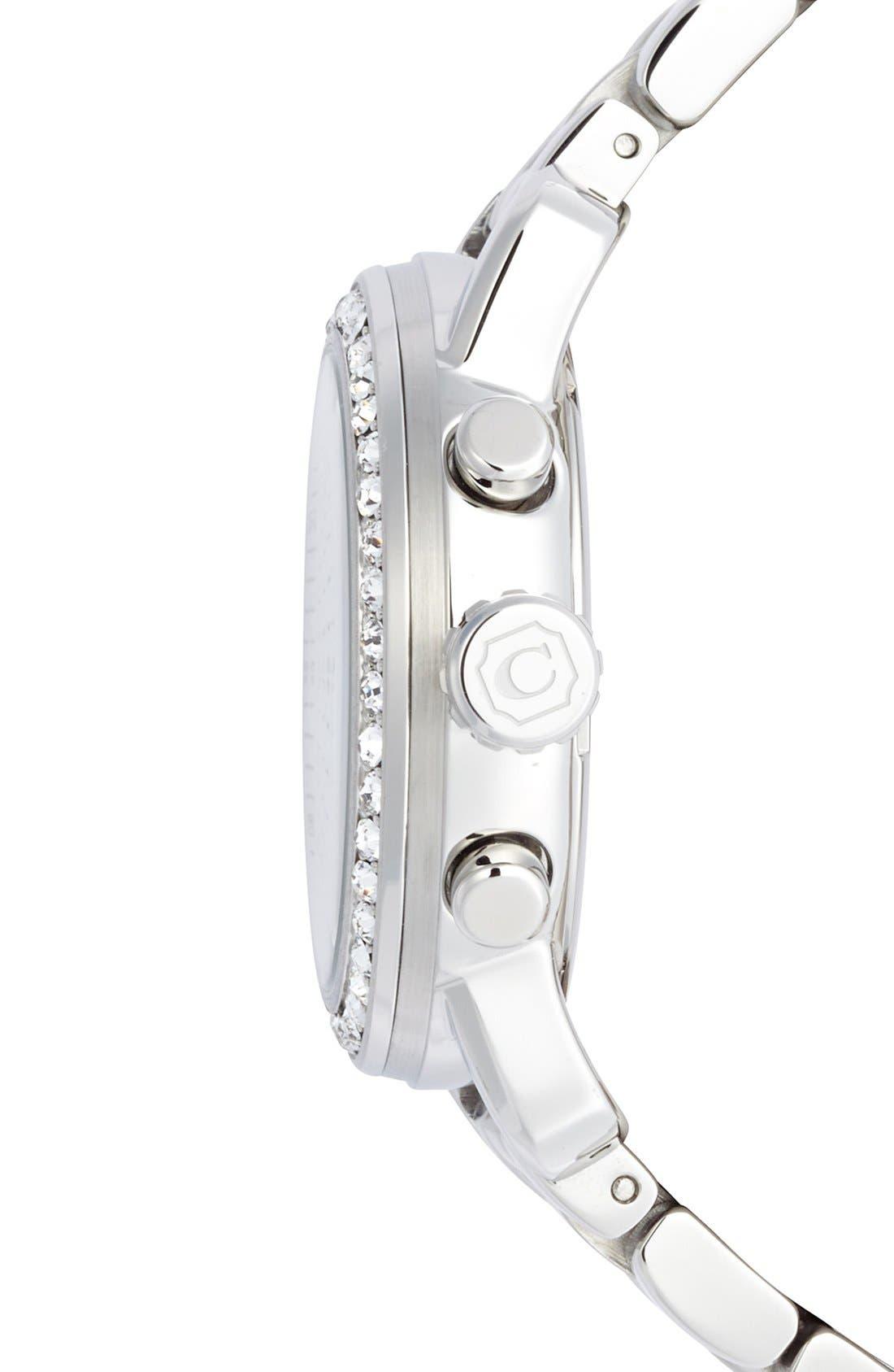 Alternate Image 3  - COACH 'Legacy Sport' Crystal Bezel Bracelet Watch, 36mm