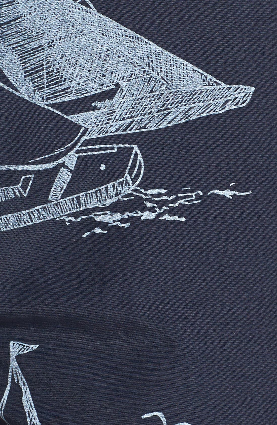 Alternate Image 3  - Tailor Vintage Sailboat Print Hybrid Shorts