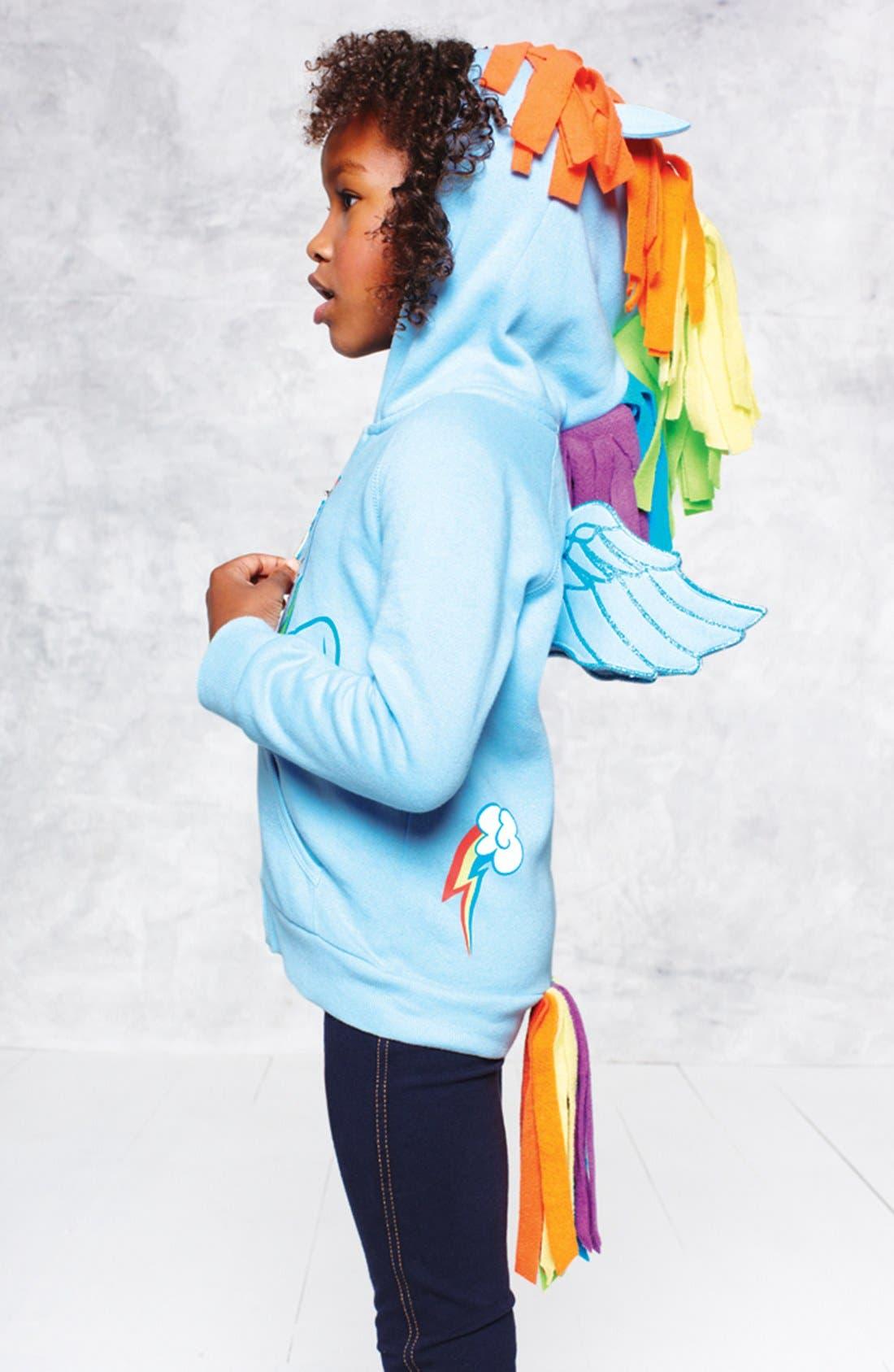 Alternate Image 3  - Mighty Fine 'My Little Pony® - Rainbow Dash®' Hoodie (Little Girls)