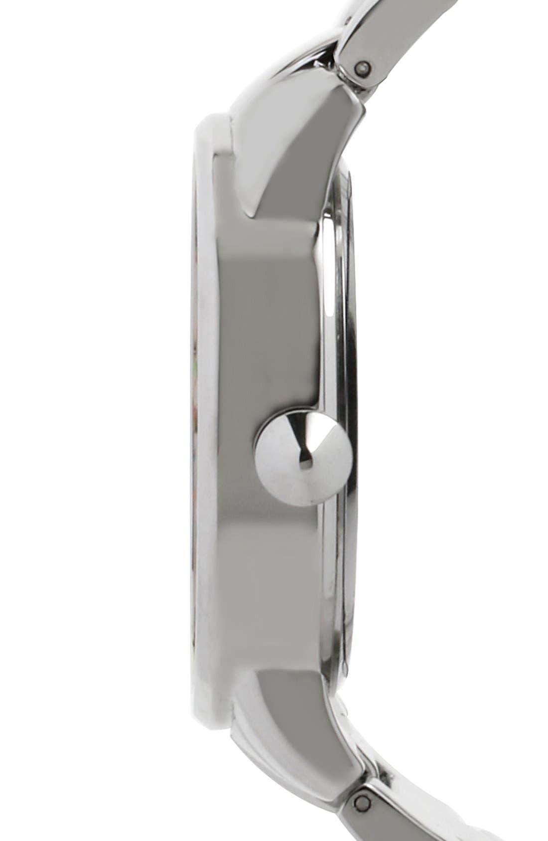 Alternate Image 3  - Steve Madden Round Dial Bracelet Watch, 40mm