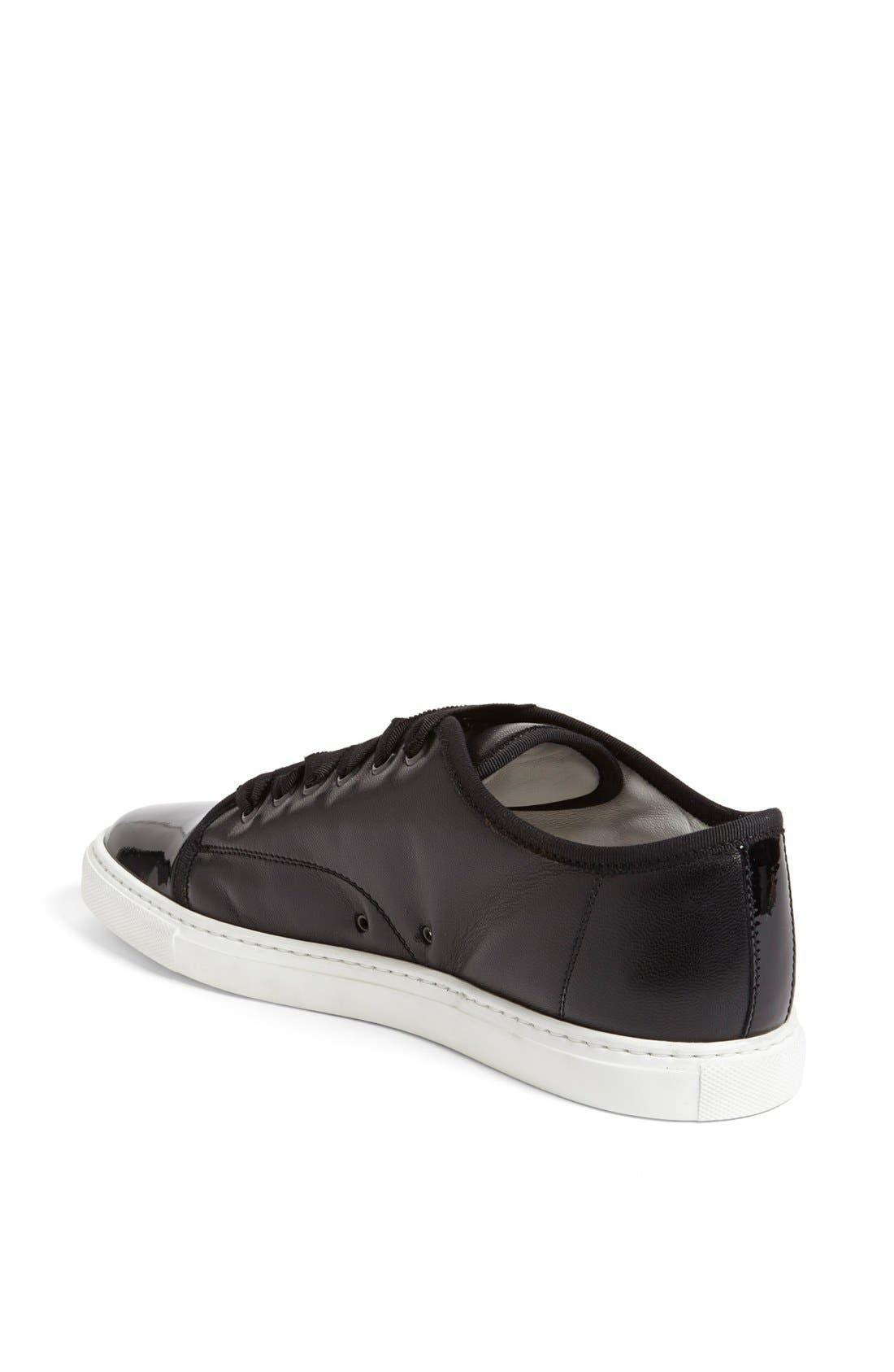 Alternate Image 2  - Lanvin Leather Low Top Sneaker