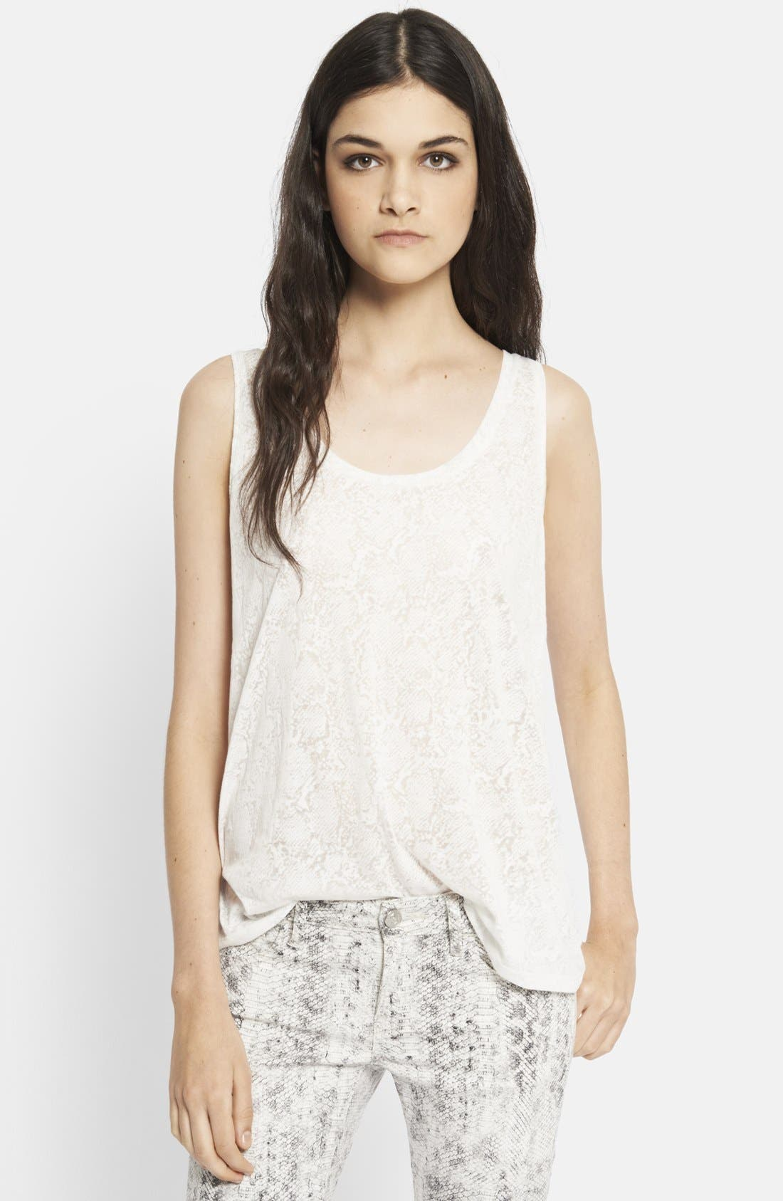 Main Image - The Kooples Snake Burnout Tank