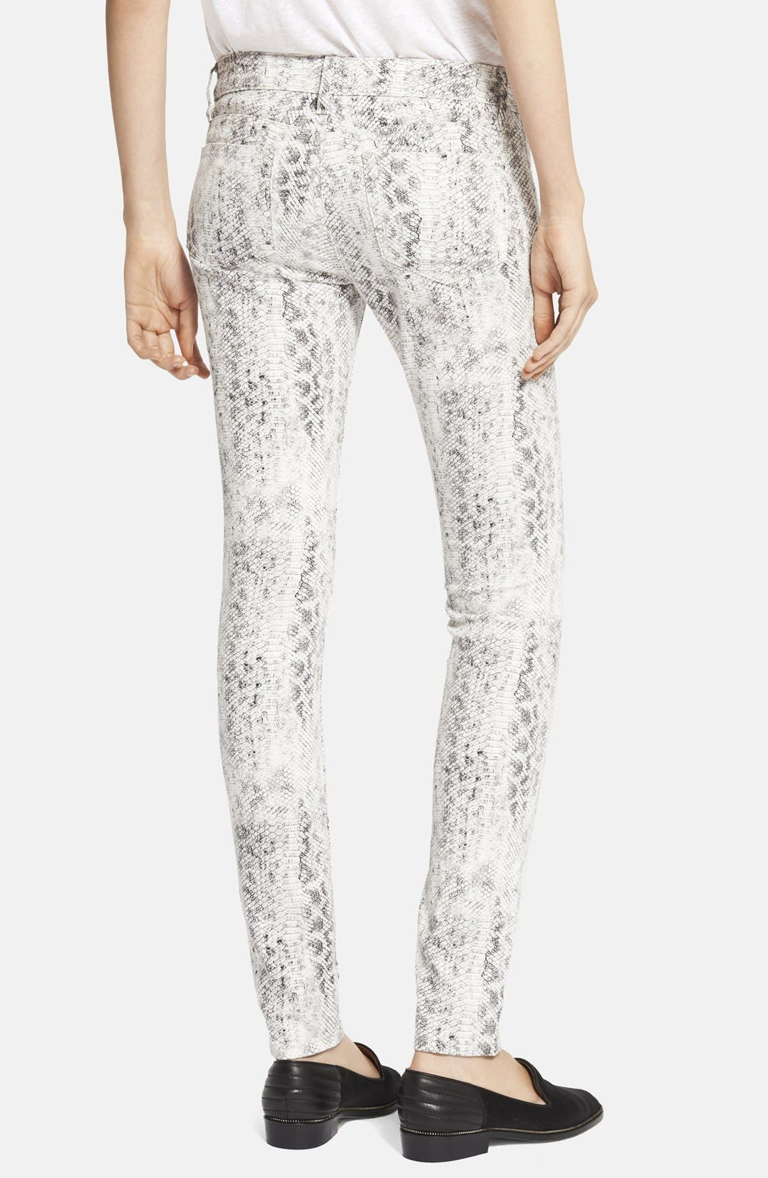 Alternate Image 2  - The Kooples Skinny Python Print Jeans