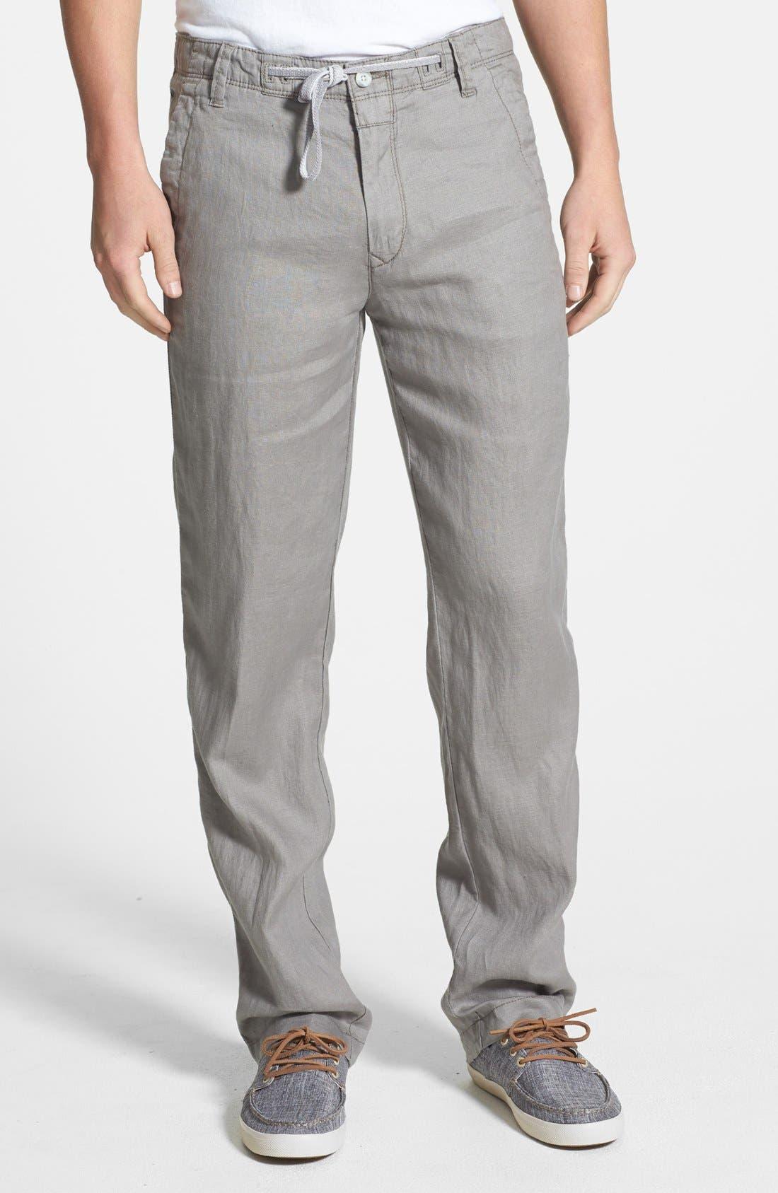 Alternate Image 1 Selected - BOSS HUGO BOSS 'Callum' Drawstring Linen Pants (Online Only)