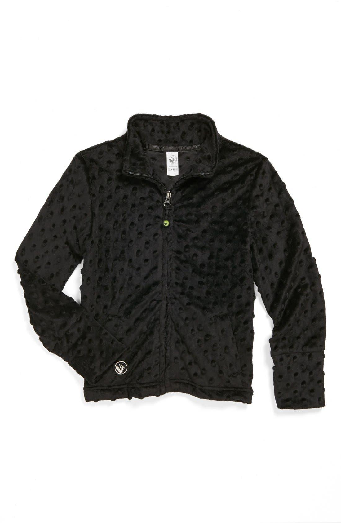 Main Image - Limeapple Bubble Dot Jacket (Little Girls & Big Girls)