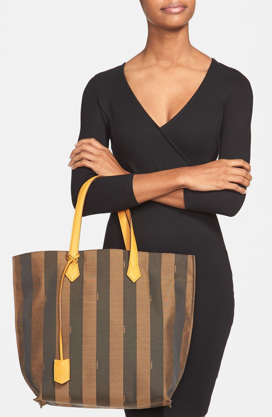 Alternate Image 2  - Fendi 'All In - Pequin' Logo Jacquard Shopper Tote