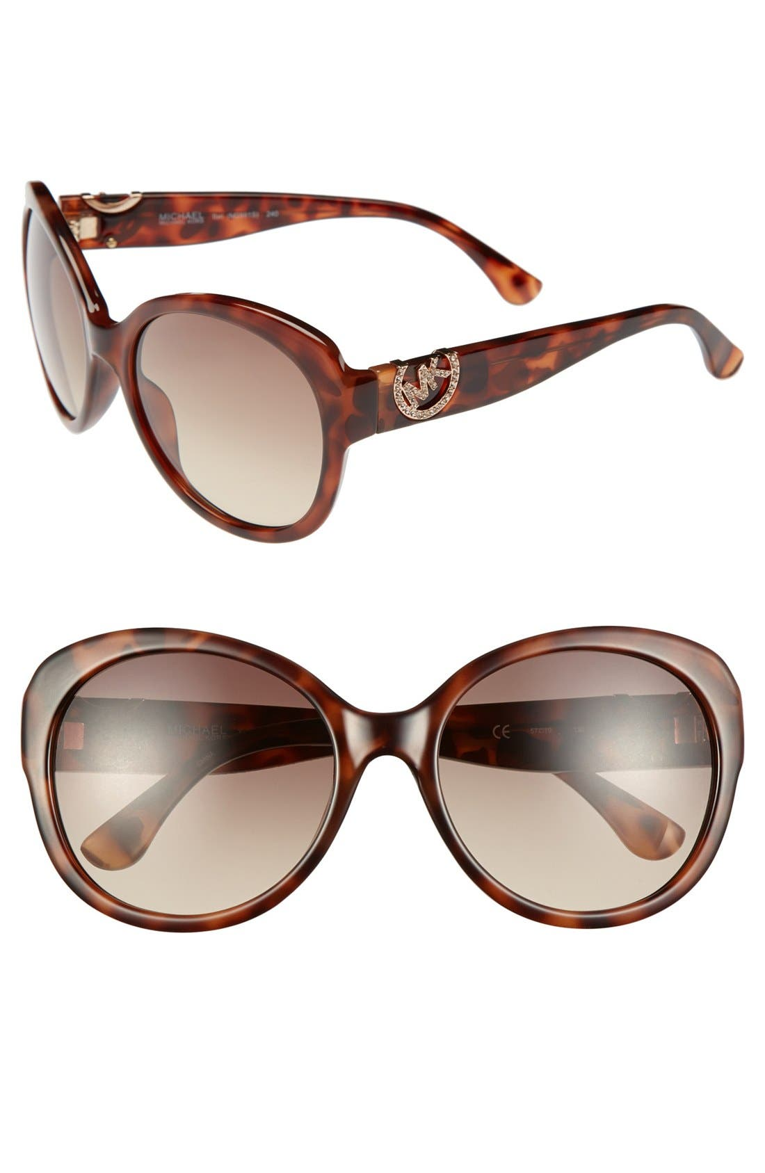 Alternate Image 1 Selected - MICHAEL Michael Kors 'Tori' 57mm Sunglasses