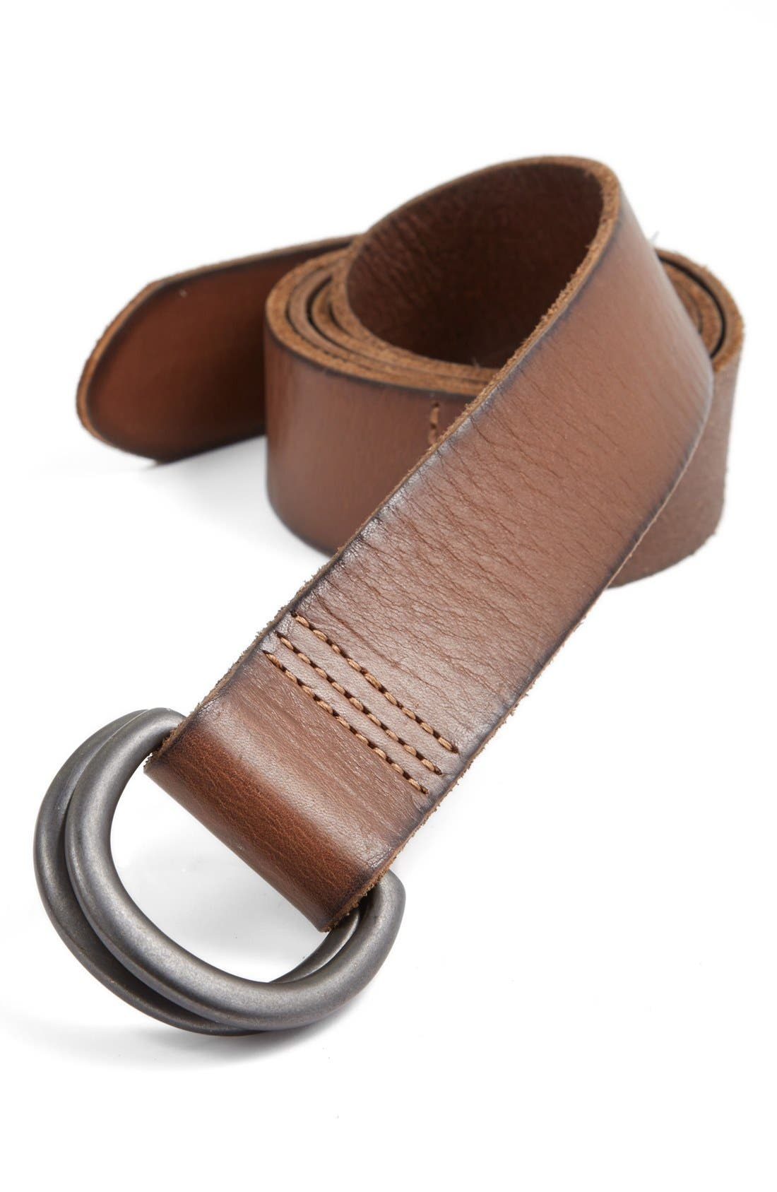 Alternate Image 1 Selected - The Rail Leather Belt with D-Ring Buckle