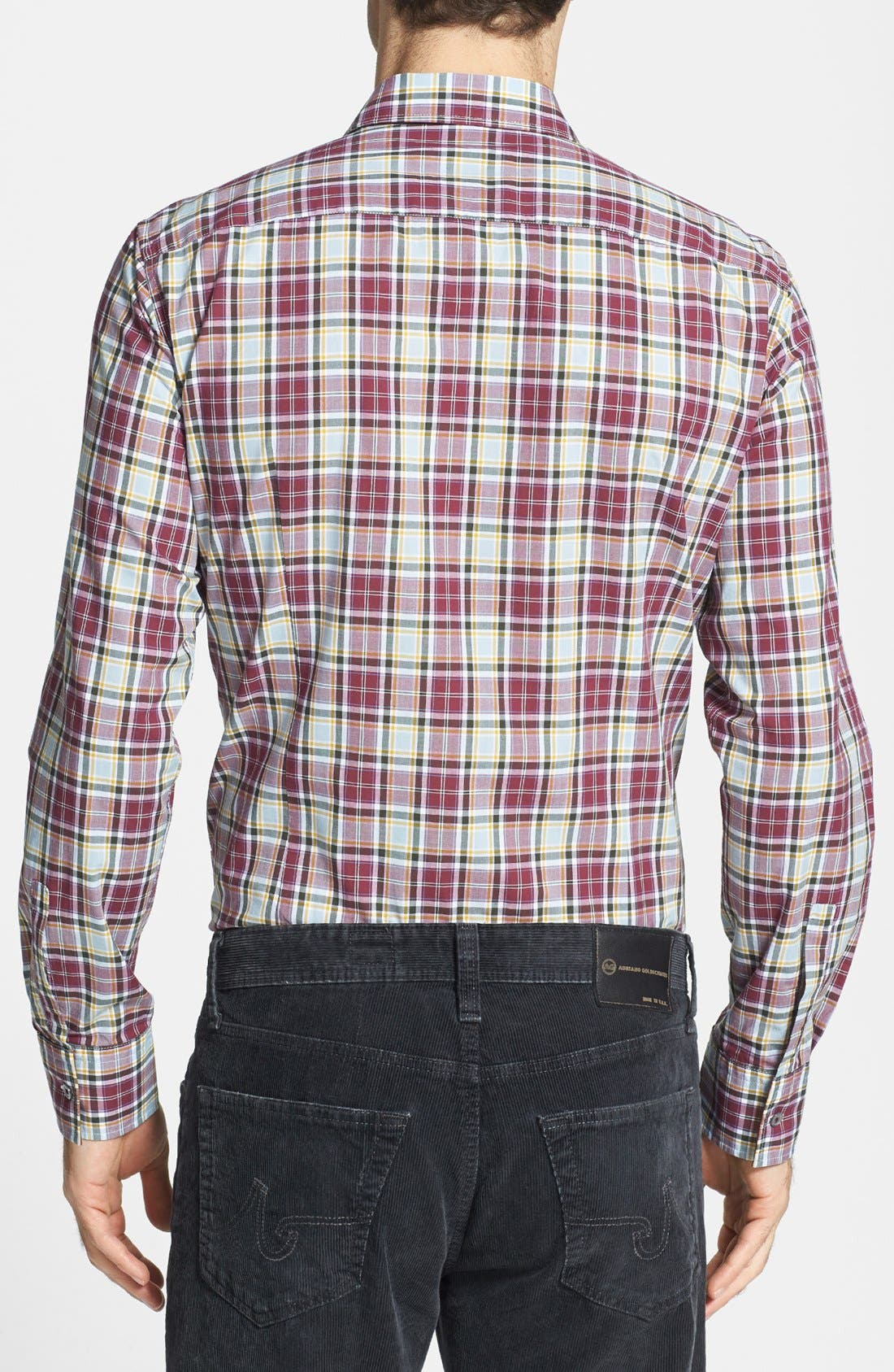 Alternate Image 2  - BOSS HUGO BOSS 'Ronny' Slim Fit Plaid Sport Shirt