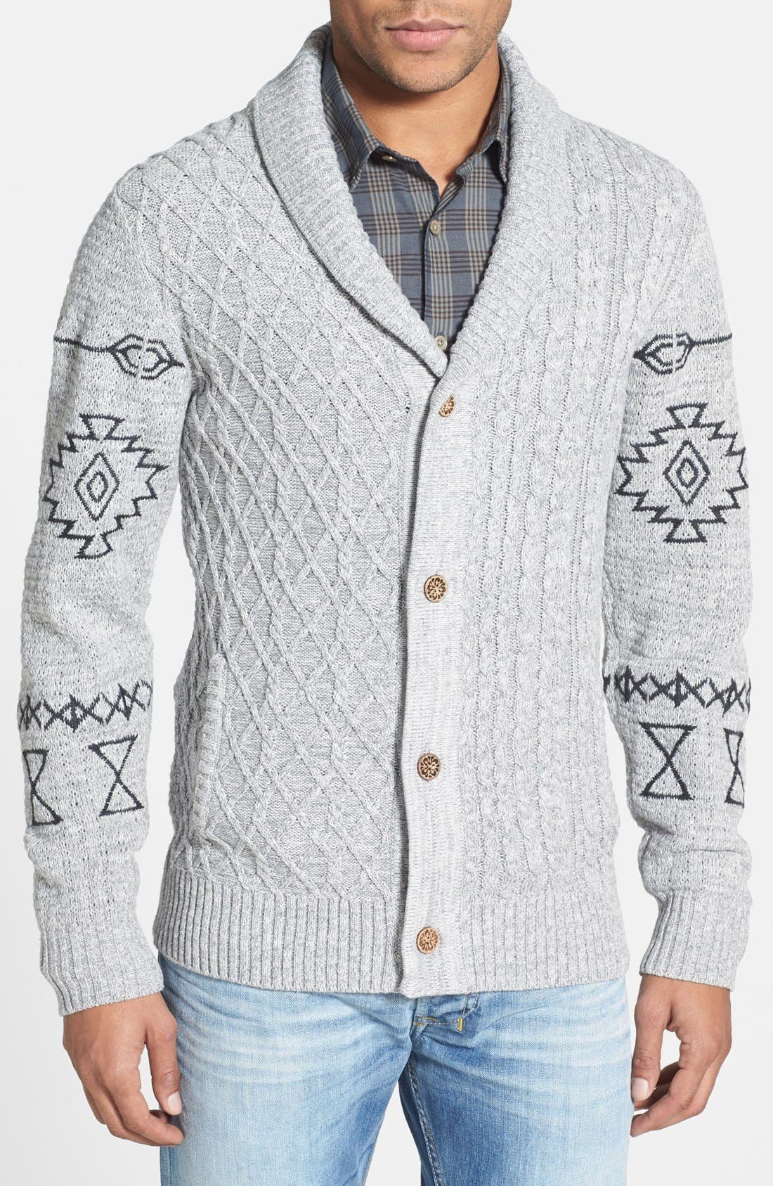 Alternate Image 1 Selected - ZANEROBE 'Sloan' Cable Knit Shawl Cardigan