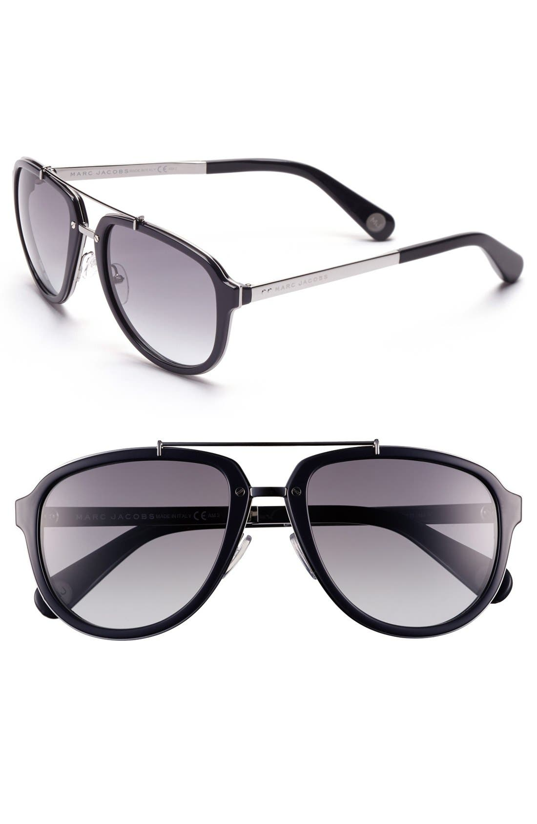 Main Image - MARC JACOBS 56mm Aviator Sunglasses