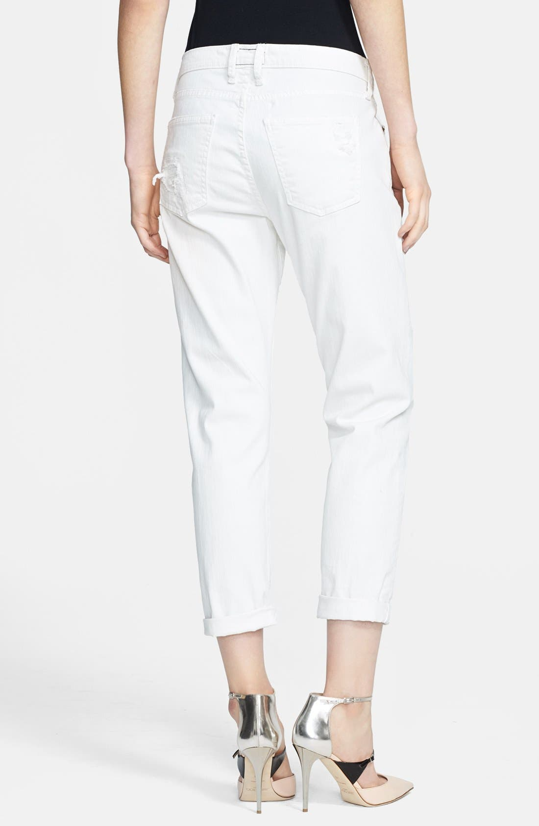 Alternate Image 2  - Current/Elliott 'The Stiletto' Jeans (Dirty White)