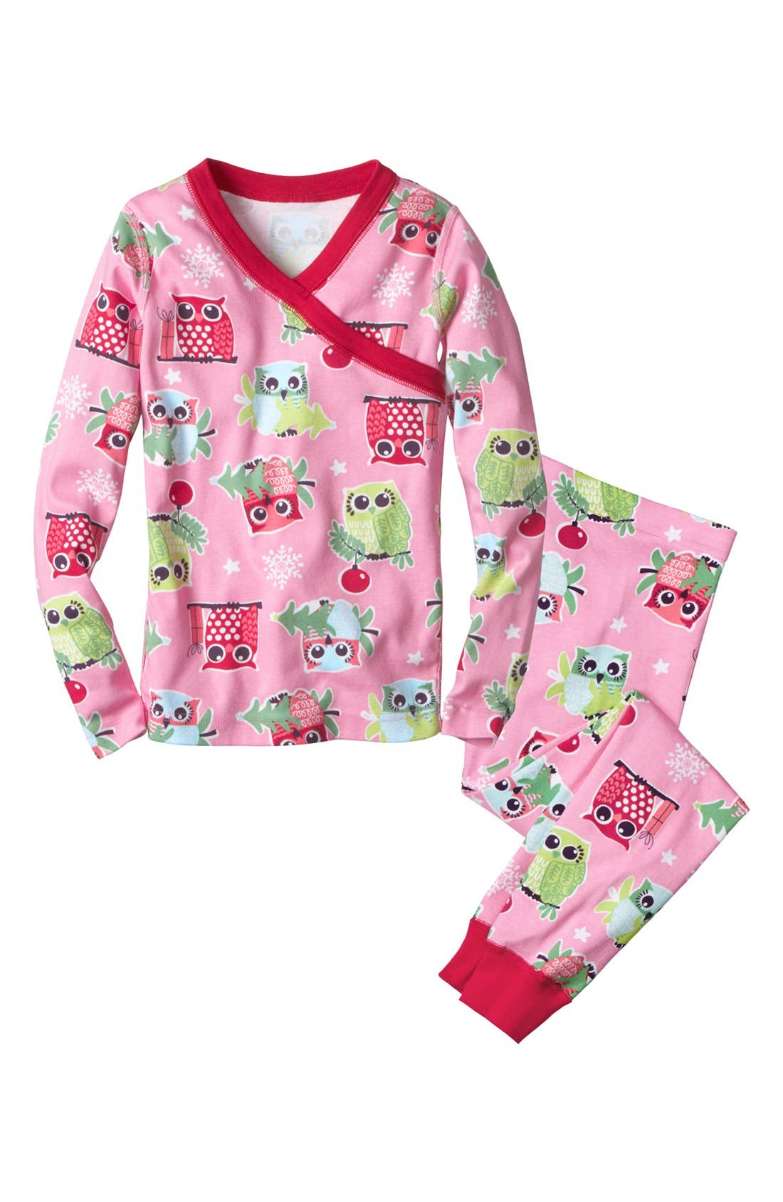 Alternate Image 1 Selected - Hanna Andersson Two-Piece Fitted Pajamas (Little Girls & Big Girls)