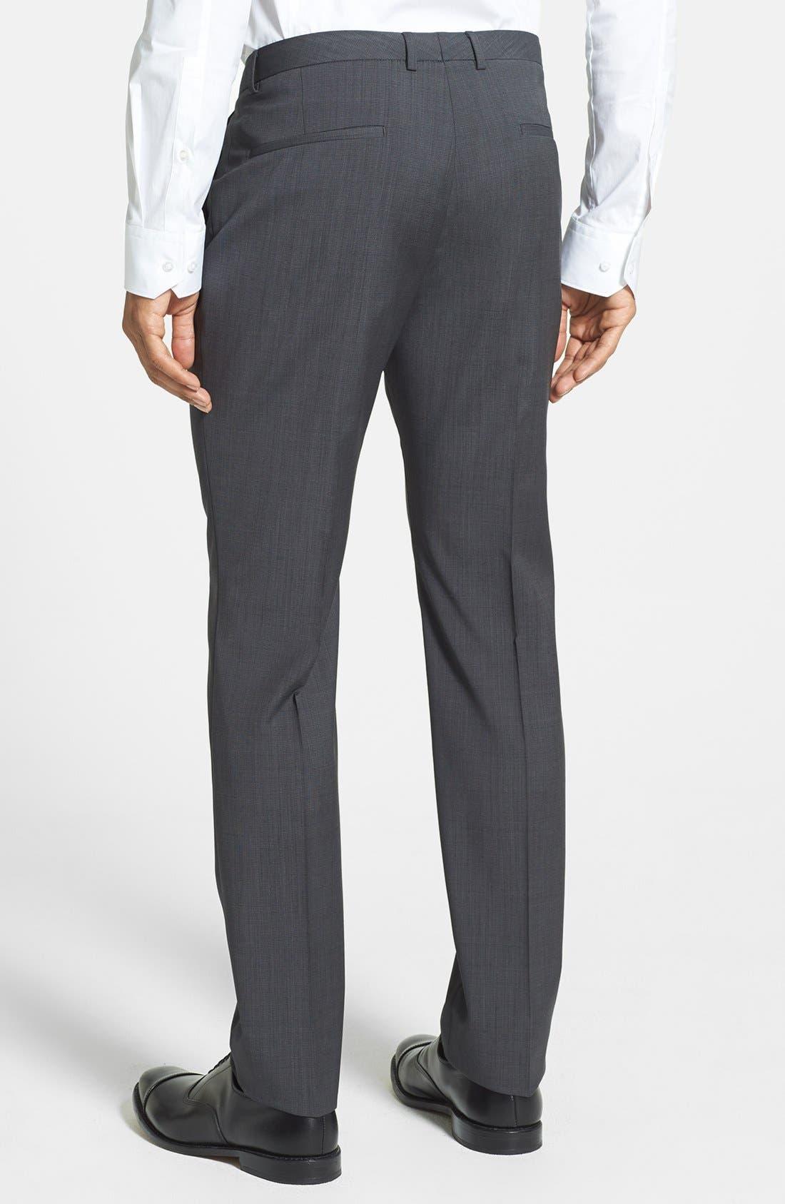 Alternate Image 2  - HUGO 'Heibo' Flat Front Wool Trousers