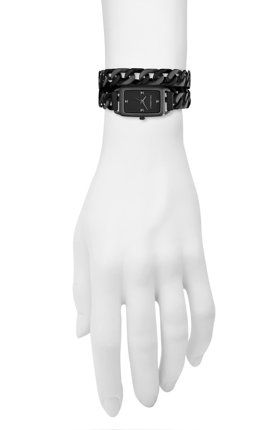 Alternate Image 3  - KARL LAGERFELD 'Kourbe' Double Wrap Bracelet Watch, 20mm x 30mm