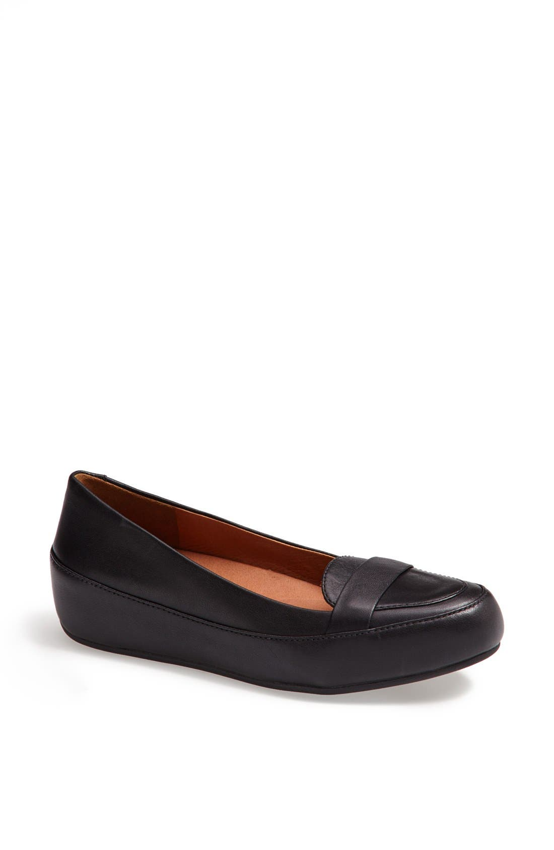 Alternate Image 1 Selected - FitFlop 'Dué™ Pop' Leather Loafer