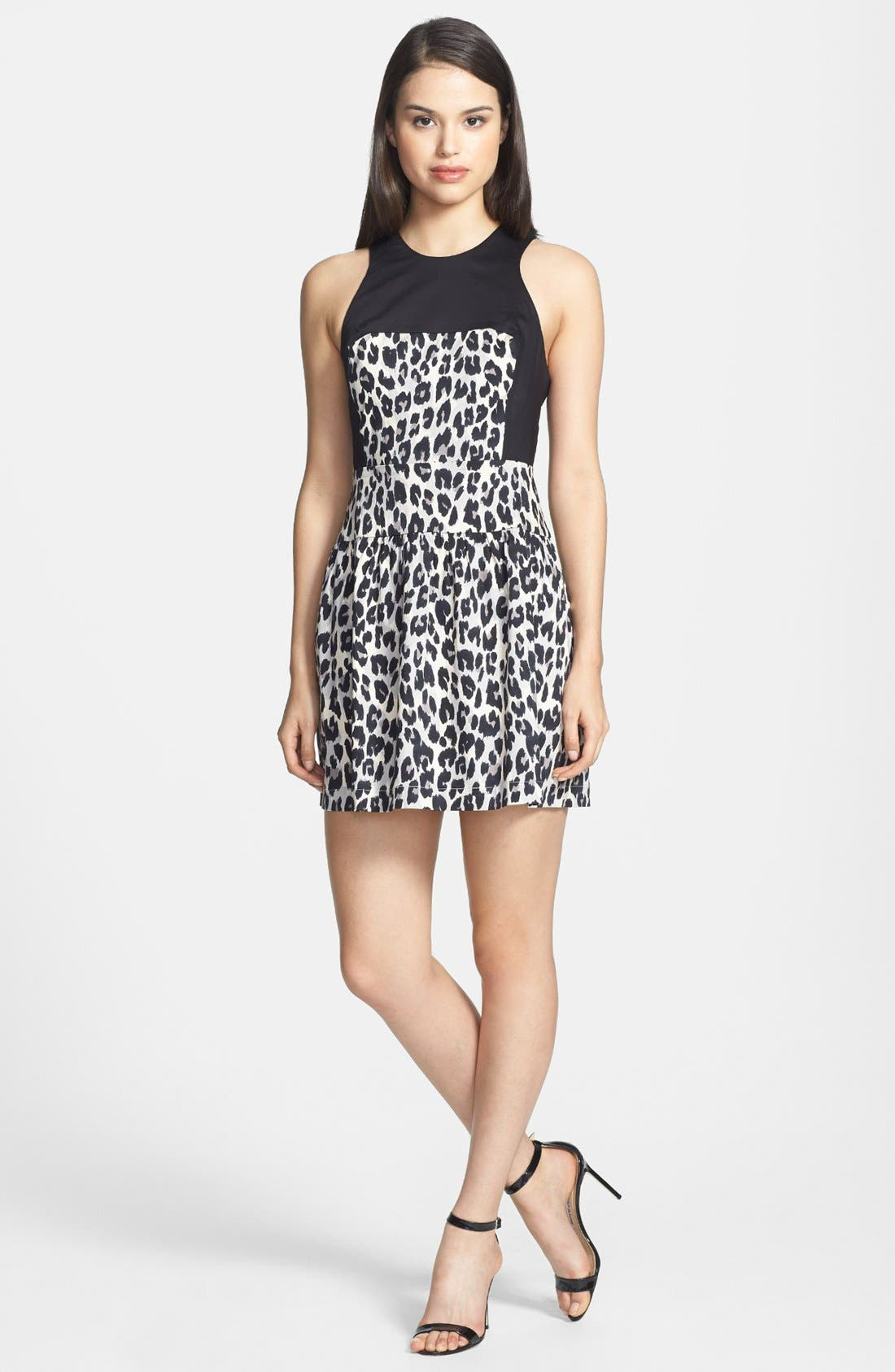 Alternate Image 1 Selected - French Connection 'Winter Simba' Crisscross Back Fit & Flare Dress