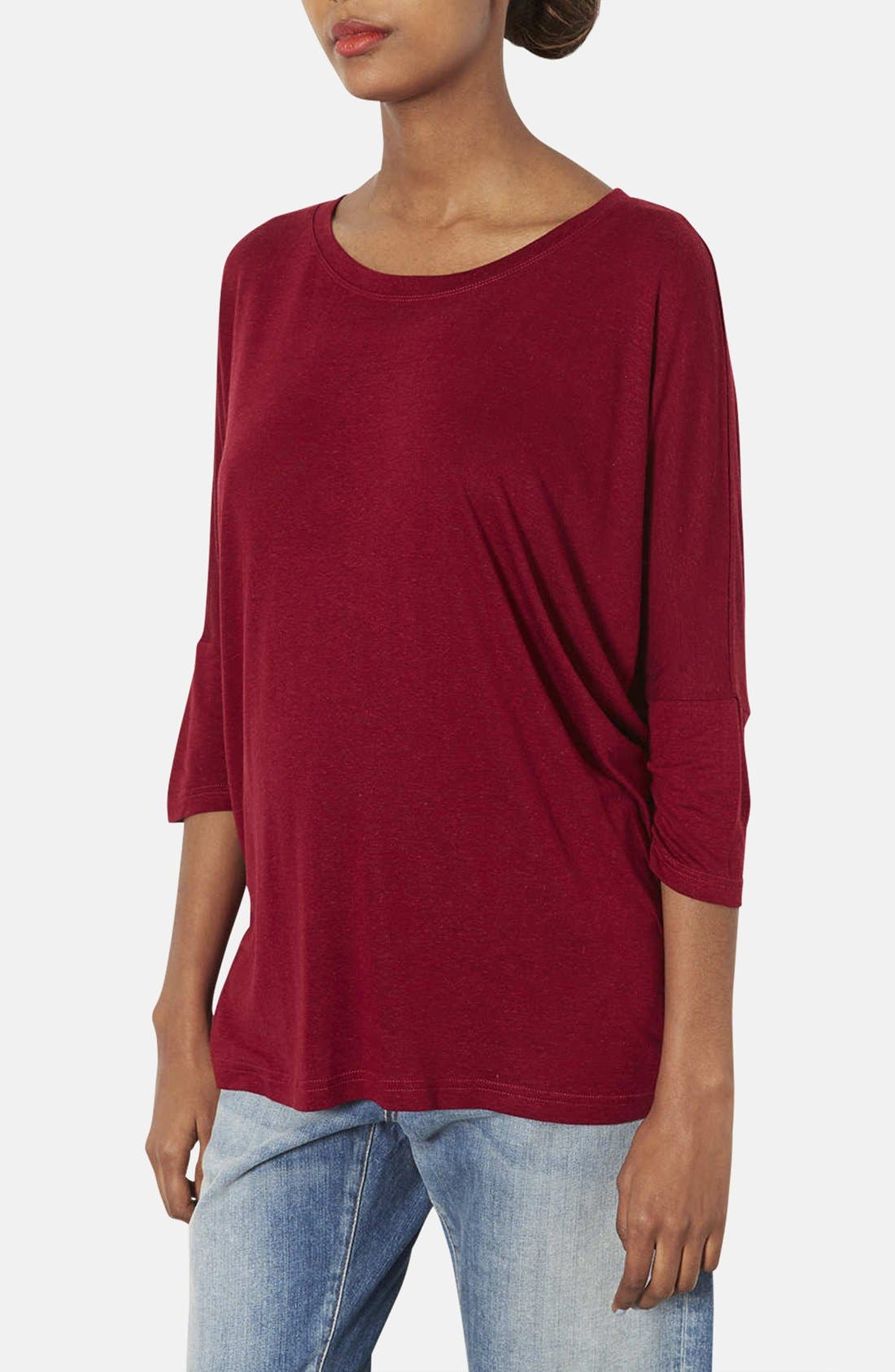 Alternate Image 1 Selected - Topshop Oversized Maternity Tee