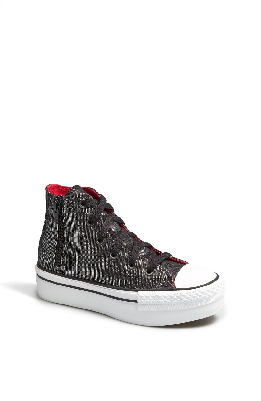 Alternate Image 1 Selected - Converse Chuck Taylor® All Star® 'CT AS' Platform Zip Sneaker (Toddler, Little Kid & Big Kid)