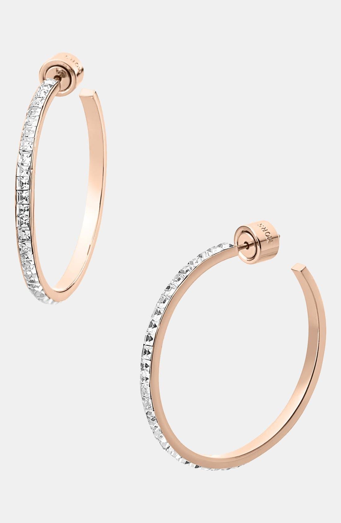 Alternate Image 1 Selected - Michael Kors Pavé Hoop Earrings