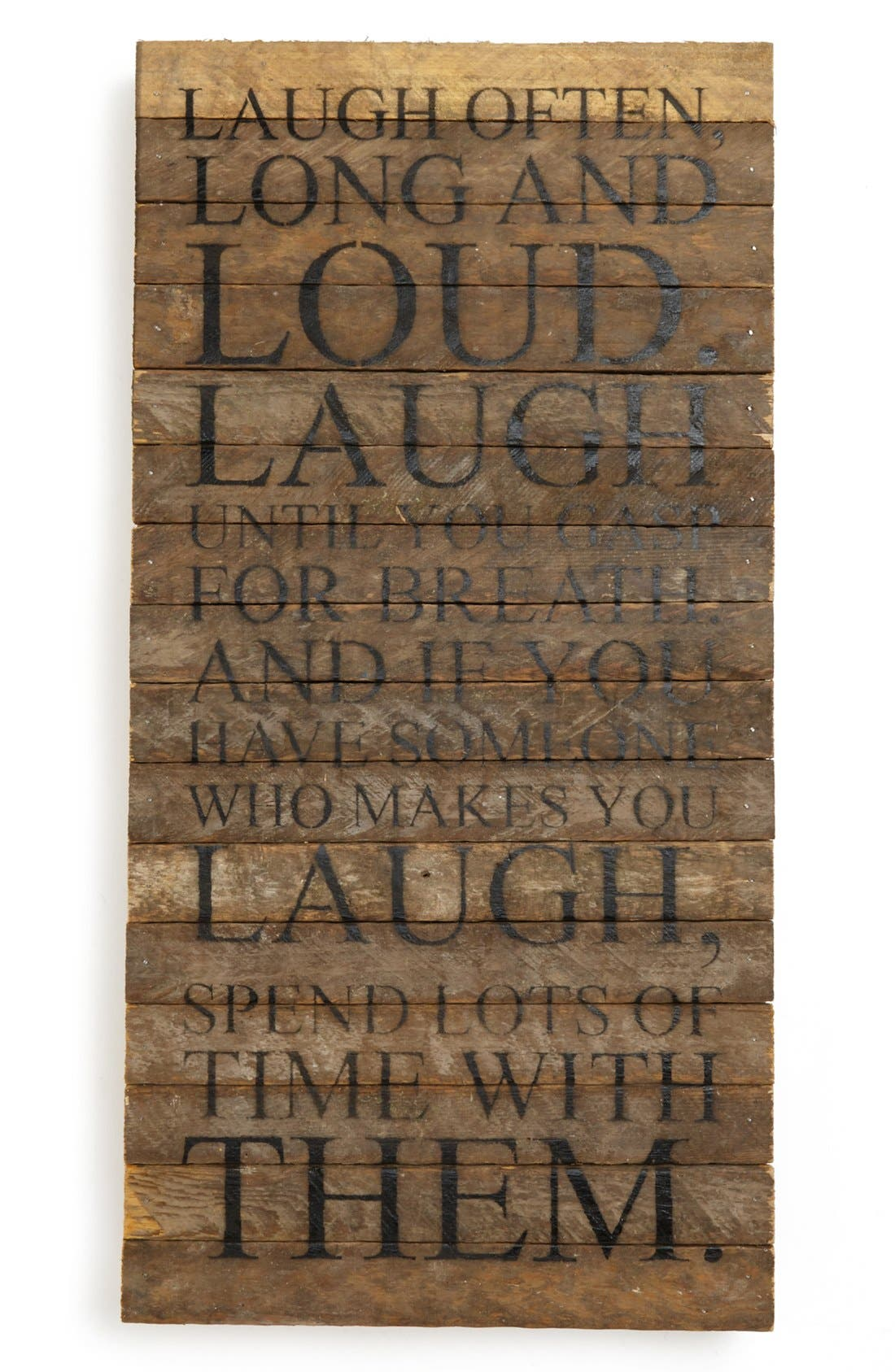 Main Image - Second Nature By Hand 'Laugh Often' Wall Art