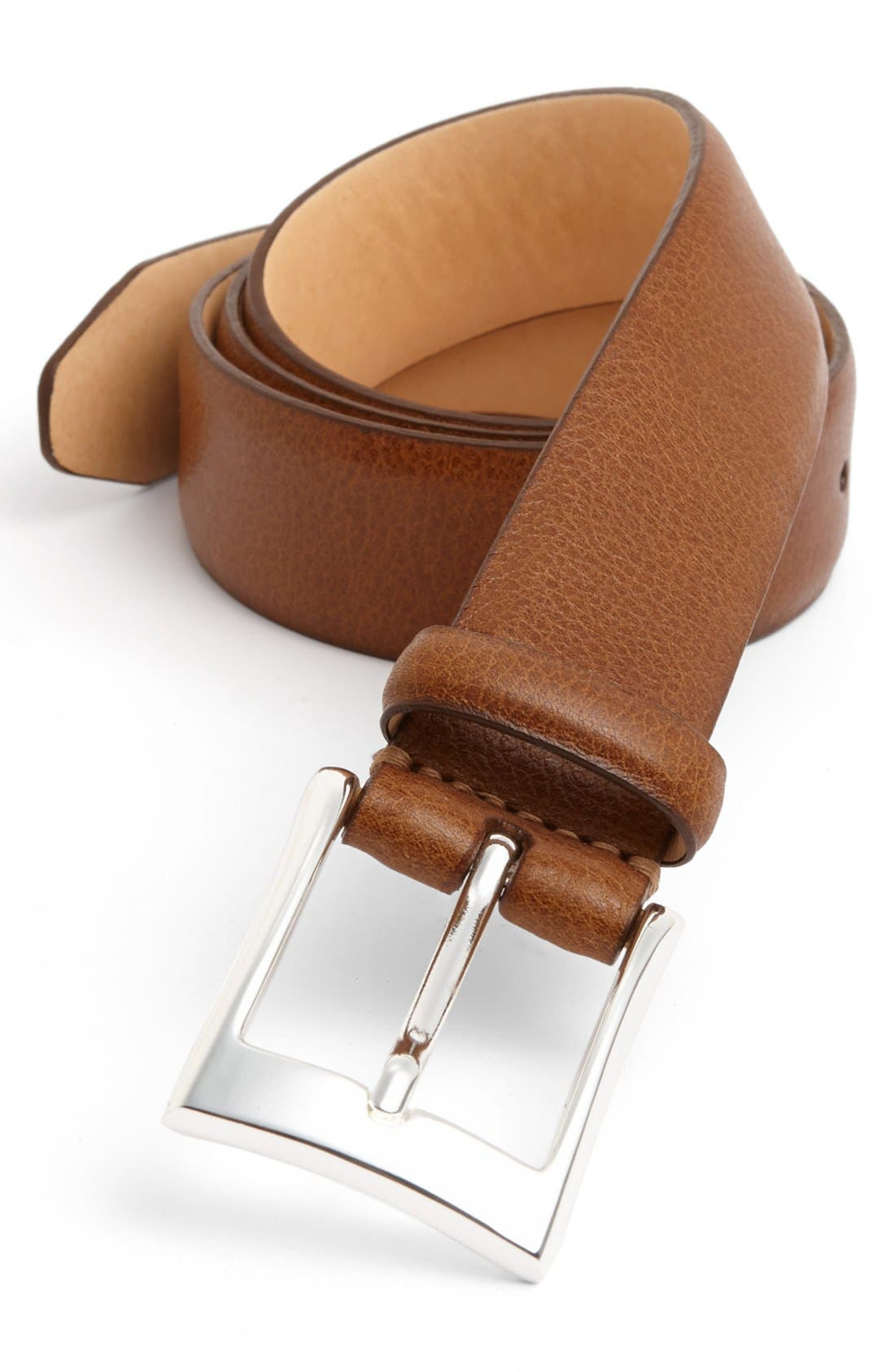 Alternate Image 1 Selected - Martin Dingman Scotch Grain Leather Belt