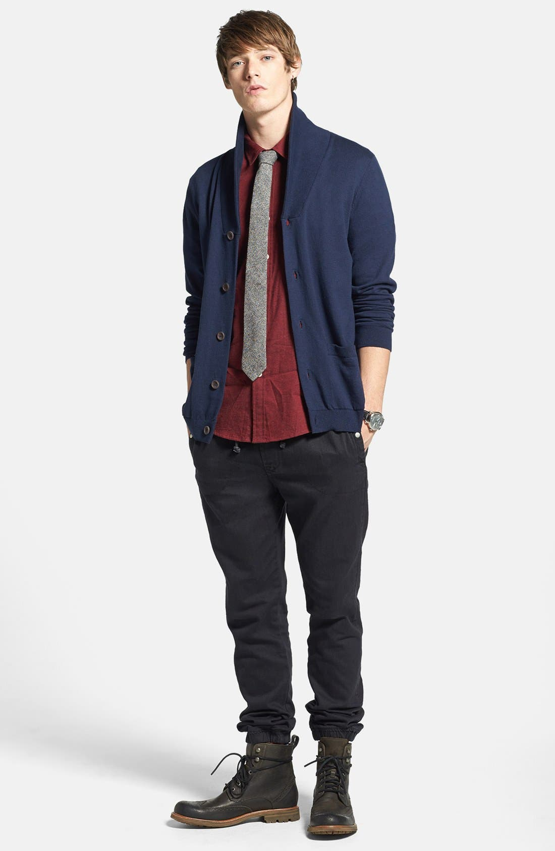 Alternate Image 4  - Topman Classic Fit Flannel Shirt