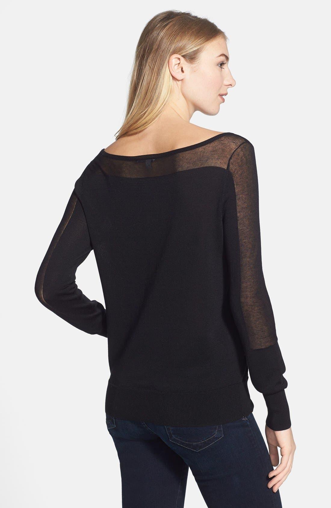 Alternate Image 2  - Halogen® Slash Neck Sweater